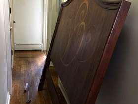 Freecycle Wooden Bed Frame With Headboard (queen)