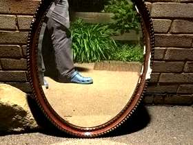 Freecycle Oval mirror
