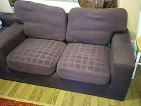 Freecycle Purple Fabric Couches