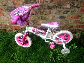 Freecycle Girl's Magna Pearl Toddler Bike with Stablisers & Basket. Broken ...