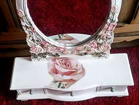 Freecycle Small up cycled mirror with 3 small draws