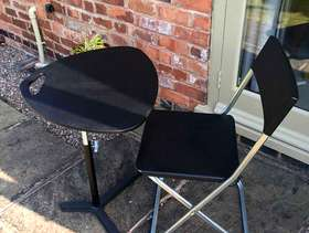 Freecycle Laptop table and chair
