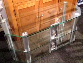 Freecycle Glass TV stand