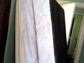 Freecycle Full sized lightly used mattress set with frame