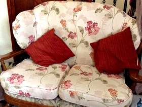 Freecycle 4 piece suite and curtains.
