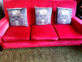 Freecycle Red 3 seater sofa * free *