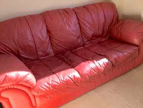 Freecycle 2 x 3 Seater Leather Sofas