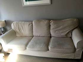 Freecycle Large three seater sofa with removable covers