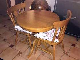 Freecycle Small dining room table and two chairs