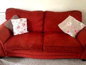 Freecycle Red 3 seater Sofa