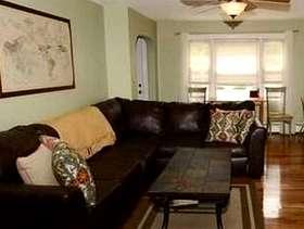 Freecycle Brown Leather Sofa 2 pce secitonal