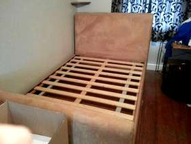 Freecycle Faux Suede Double Bed