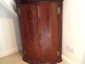 Freecycle Oak corner cabinet