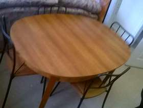 Freecycle Dinner table and 4 chairs