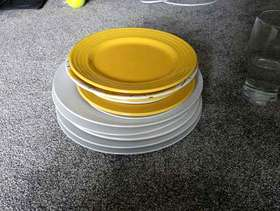Freecycle Assorted dinner plates
