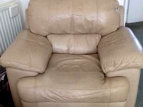 Freecycle Two Cream Armchairs