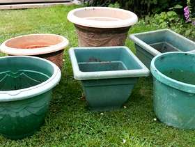Freecycle 6 large plastic plant pots