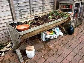Freecycle Large wooden raised planter