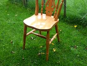 Freecycle Pine table and 4 chairs