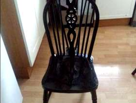 Freecycle Black wooden chairs