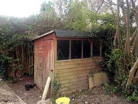 Freecycle Free 8x6 tatty shed!