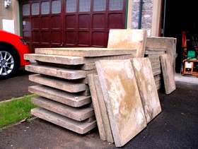 Freecycle Concrete paving slabs