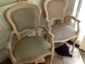 Freecycle 3 chairs for upholstery project