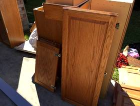 Freecycle Kitchen cabinets