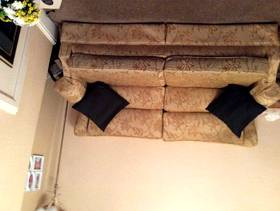 Freecycle 2 X 3 seater settees plus storage foot stool