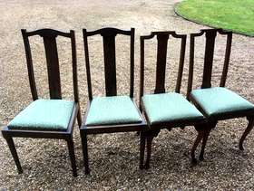 Freecycle 4 dining chairs. 2 matching pairs. In very good condition,