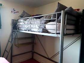 Freecycle High Sleeper single bed with desk underneath