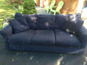 Freecycle Couch and ottoman
