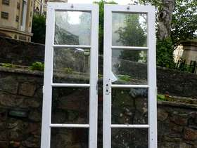 Freecycle Two Wooden glazed patio doors