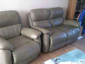 Freecycle Leather 2 seater sofa and armchair