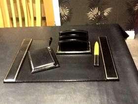 Freecycle Italian leather desk set