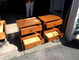 Freecycle Bedroom End Table set