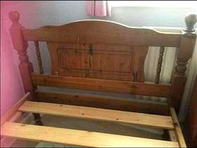 Freecycle Solid Pine Single Bed