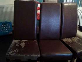 Freecycle FREE 5x Faux leather chairs