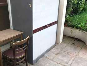 Freecycle Office cupboard with roller door