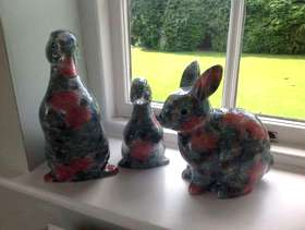 Freecycle X 3 Park Rose (Hornsea pottery) animals: X 2 ducks, ...