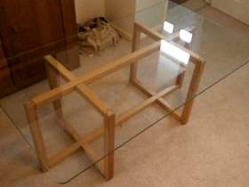 Freecycle IKEA glass top coffee table