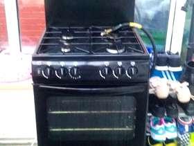 Freecycle Black 4 burner gas cooker