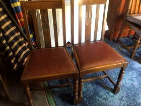 Freecycle 2 Mahogany Dining Chairs