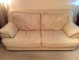 Freecycle Sofa 3 Seater - cream leather