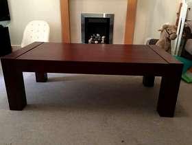 Freecycle Dark wood coffee table