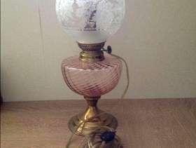 Freecycle Beautiful French glass lamp
