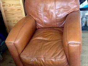 Freecycle Tan leather chair