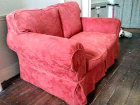 Freecycle Pair of two-seater sofas and footstool