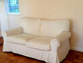 Freecycle Sofa and two arm chairs