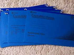Freecycle Blue Foolscap suspension files NEW